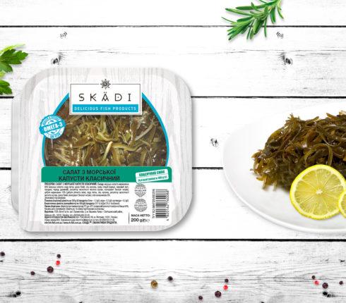 """Салат з морської капусти в олії ТМ """"SKADI"""""""