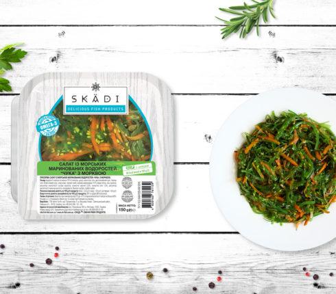 """Салат із морських маринованих водоростей «Чука» з морквою TM """"SKADI"""""""