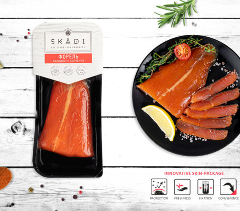 "Trout tail (Cold smoked) ТМ ""SKADI"""