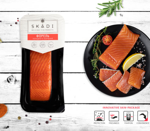 "Trout fillet piece (Cold smoked) ТМ ""SKADI"""