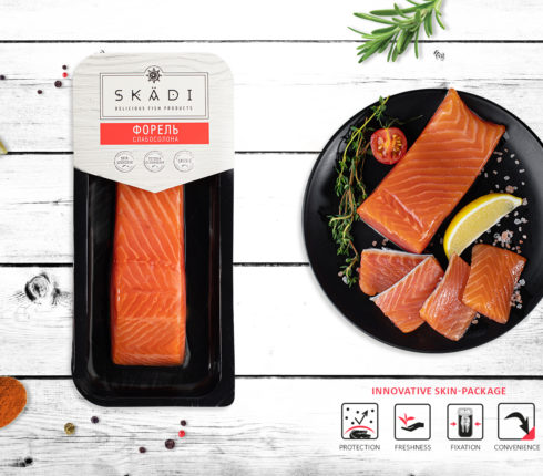 "Trout fillet piece (Slightly salty) ТМ ""SKADI"""