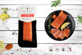 """Salmon fillet piece(Cold smoked) ТМ """"SKADI"""""""
